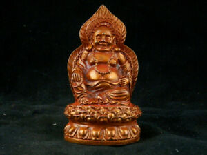 Lovely Antique Tibetan Brass Hand Made *Happy Buddha* Statue T142