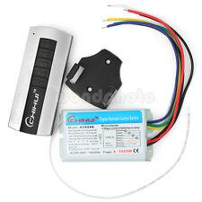 Práctico Digital Inalámbrico Interruptor Control Remoto 4 Canal + Transmisor