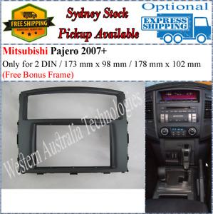 Fascia facia Fits Mitsubishi Pajero Double Two 2 DIN Dash Kit