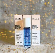 3x~ACURE Seriously Soothing Blue Tansy Night Oil~0.3 fl oz/10 ml each~NIB~