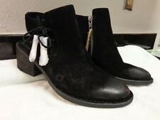 BORN BOC Women Boots booties Leather Size 7.5 Black  New With Tags Distressed