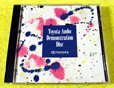 Toyota Audio Demonstration Disc ~ Music CD ~ Rare Promo Promotional