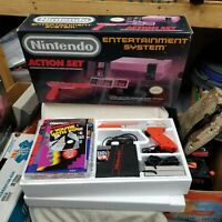 NES Nintendo Entertainment System Action Set Console Complete CIB Tested Works!