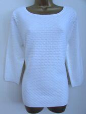 Per Una Ladies White Summer Jumper Size 16 3/4 Sleeves Bnwt Womens