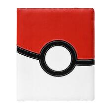 More details for ultra pro 9 pocket premium leather card folder - binder - pokemon pokeball