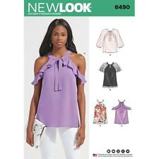 NEW LOOK SEWING PATTERN MISSES' Blouses With Sleeve Variations SIZE 6490