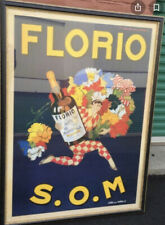 Vintage Liquor Advertising Reproduction Poster ~Florio SOM by Marcello Dudovich