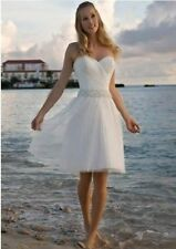 New Short Bridal Gown Wedding Dress bride Custom size 4.6.8.10.12.14.16.18+