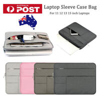 "Laptop Sleeve Case Multi-pockets Pouch Carry Bag for MacBook HP 11"" 12"" 13"" 15"""
