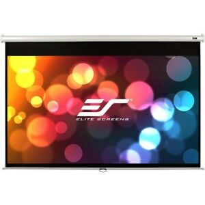NEW Elitescreens M100NWV1 Manual Projection Screen 100in Diag PullDown Scrn