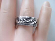 SILBER RING ° 925 ° massiv ° Silberschmuck ° Strukturiertes Muster °
