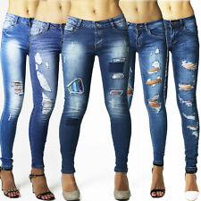 Cotton Faded Slim, Skinny L32 Jeans for Women