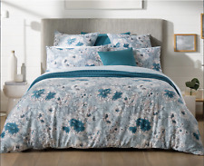 5pc SHERIDAN ANSCOMBE KING BED QUILT COVER 2 PILLOWCASES 2 EUROS COTTON FLORAL