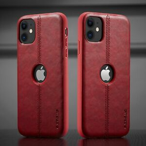 Luxury Leather Back Cover For iPhone 12 XR XS MAX 8 7 6Plus Shockproof  Big Hole