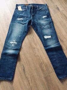Ralph Lauren Polo Jeans Sullivan Slim 36 34 Long New Authentic Designer
