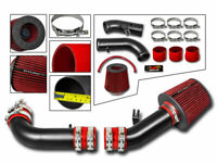 Short Ram Air Intake Kit MATT BLACK+RED Filter for 99-05 Mazda Miata MX5 NB 1.8L