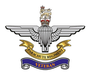 """PARACHUTE REGIMENT STICKER X 2 BRITISH ARMED FORCES MILITARY   5"""" approx"""