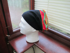 Unisex African Style  Rasta Red Gold Green Black Fleece  Slouch Beanie Hat