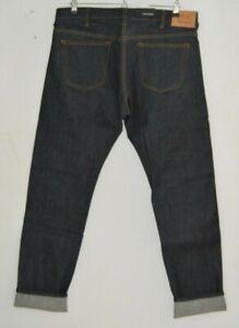 "PAUL SMITH KINGS CROSS LONDON natural indigo selvedge denim slim jeans 28"" x 32"""