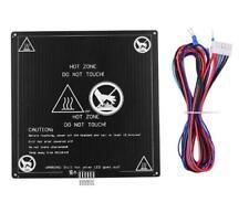 Aluminium-Heizbett 12V Heizfläche 220x220x3mm Mit Kabel Zubehör Für 3D Drucker
