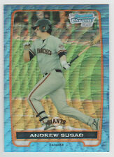 ANDREW SUSAC Giants 2012 Bowman Chrome BLUE WAVE REFRACTOR SP RC SSP