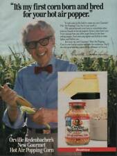 1985 Orville Redenbacher Popcorn Vintage Print Ad Page Gourmet Popping Corn
