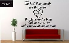 The best things in life family vinyl wall art quote for living room/bedroom wall
