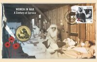 Australia 2017 Women In War - A Century of Service $1 Coin & Stamp PNC Cover