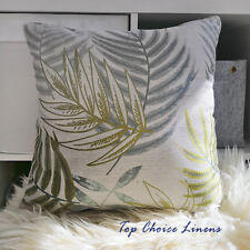 45cm x 45cm Home Decoration Lounge Green/Grey Leaves Jacquard Cushion Cover