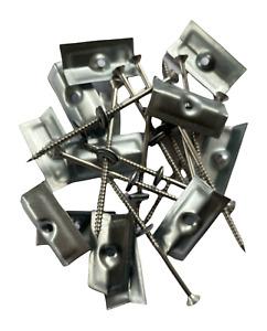 Ridge Fixing Sets | Screws & Clamps | Ridge Dry Fix | Pk of 13 | SILVER