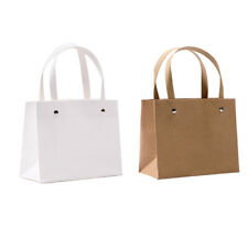 Blank Kraft Paper Bags Paper Shopping Bags for Wedding Gift Packaging 5pcs