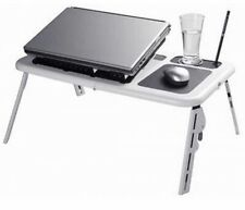 E-Table Foldable Portable laptop Desk Table Stand Bed Tray Dual Fans Lap Desk