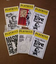 PLAYBILL lot of 6 JACKIE MASON Comedy Shows (5 diff, 1 dup) Broadway