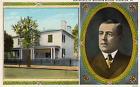 Birthplace of Woodrow Wilson, Staunton, Va. postcard, photo inset and home