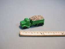 Dollhouse Miniature Green Dump Truck wi Gravel  -  #2965 - Painted Metal