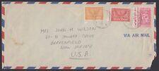 SAUDI ARABIA, 1955. Air Mail 161,168, Khobar - New Jersey