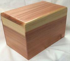 Extra Large Solid Redwood Pet Cremation Urn