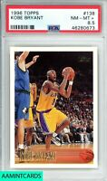 1996 TOPPS Kobe Bryant #138 LOS ANGELES LAKERS ROOKIE RC PSA 8.5 MAMBA