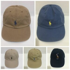 Brand New POLO RALPH LAUREN MENS WOMENS KHAKI POLO HAT CAP LEATHER STRAP