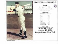 "Mickey Mantle - New York Yankees - 8 "" x 10"" Supercard"