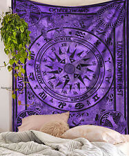 Cycle of the ages mandala indian tapestry bohemian wall hanging bedspread throw