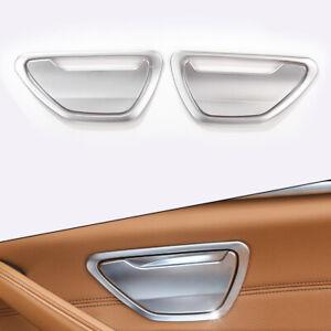 4pcs/set Rear Door Ash Cover Trim Interior White Fit For BMW 5 Series G30 18 ct