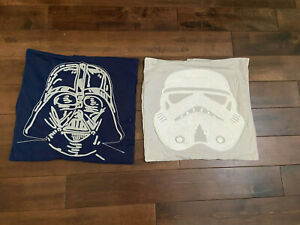 Pottery Barn Kids Star Wars™ Pillow Cover Lot of Two Darth Vader Storm Trooper