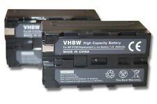 2x BATTERIE 3600mAh POUR SONY DCR-VX (MiniDV) DCR-VX1000 DCR-VX2000