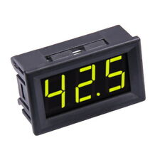"Mini Voltmetro 0-100V DC Digitale Giallo 0,56"" LED Display Misura Tensione"