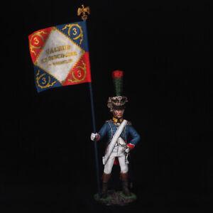 Tin Soldier, Officer, Line-Infantry Standard Bearer, Napoleonic 54 mm