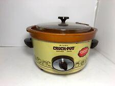 Vintage Rival 5 Qt Crock-Pot Slow Cooker Removable Stoneware Model 3350/2