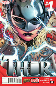 Thor #1 1st Appearance JANE FOSTER AS THOR Marvel 2014 1st print