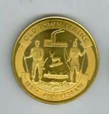 1840-1965 Old Town, Maine, 125th Anniversary ½ Dollar Medal