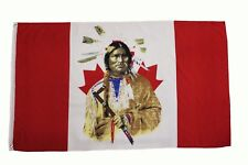 Canada INDIAN CHIEF  3' X 5' FEET PICTURE FLAG BANNER .. NEW